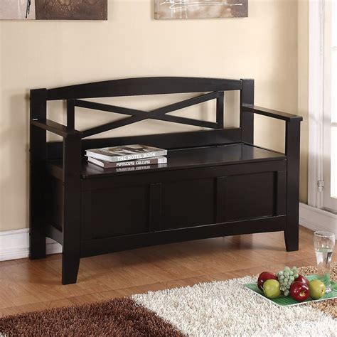 accent bench with storage shop office star osp designs black indoor accent bench