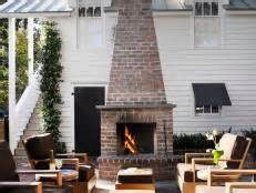 chiminea seating area outdoor clay chiminea fireplace options hgtv