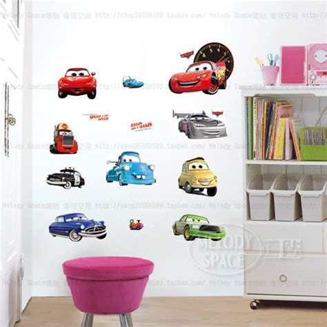 car child room decoration wall stickers for
