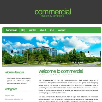 html css page layout design online commercial free website templates in css html js format