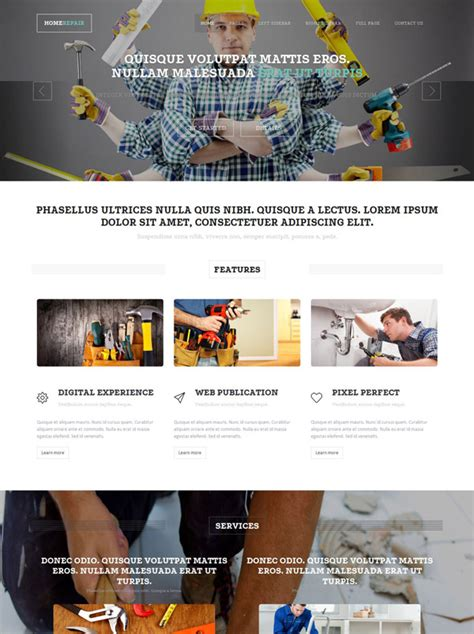home repair site template home renovation website
