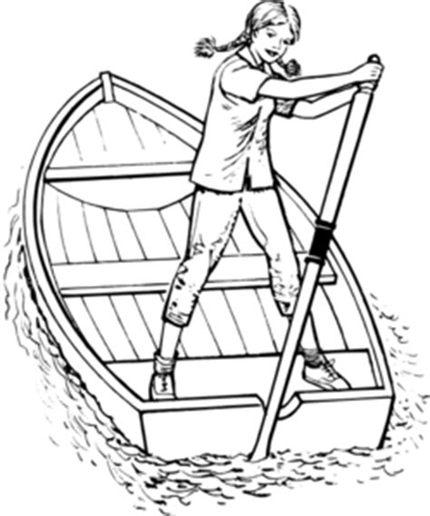 how to draw a nice boat girl rowing boat clip art at clker vector clip art