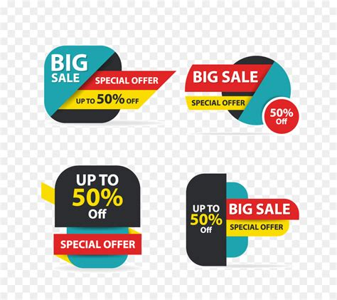 discount flyer template sales logo banner colorful shopping sale flyer poster