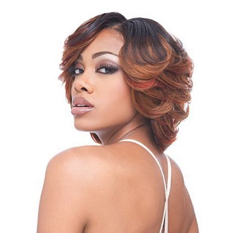 long layered and feathered wig hairstyle for black women black feathered hairstyles