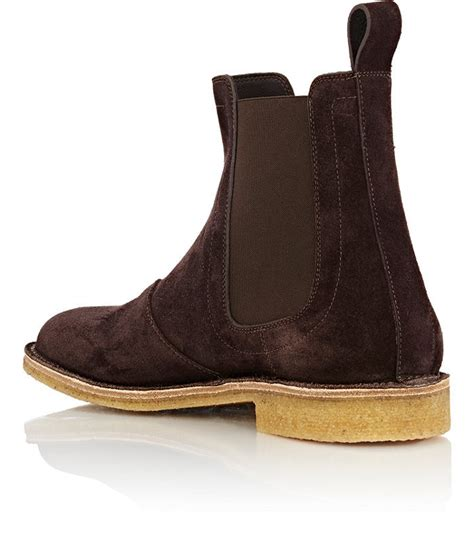 Mens Handmade Boots - handmade mens chelsea suede leather boots mens brown