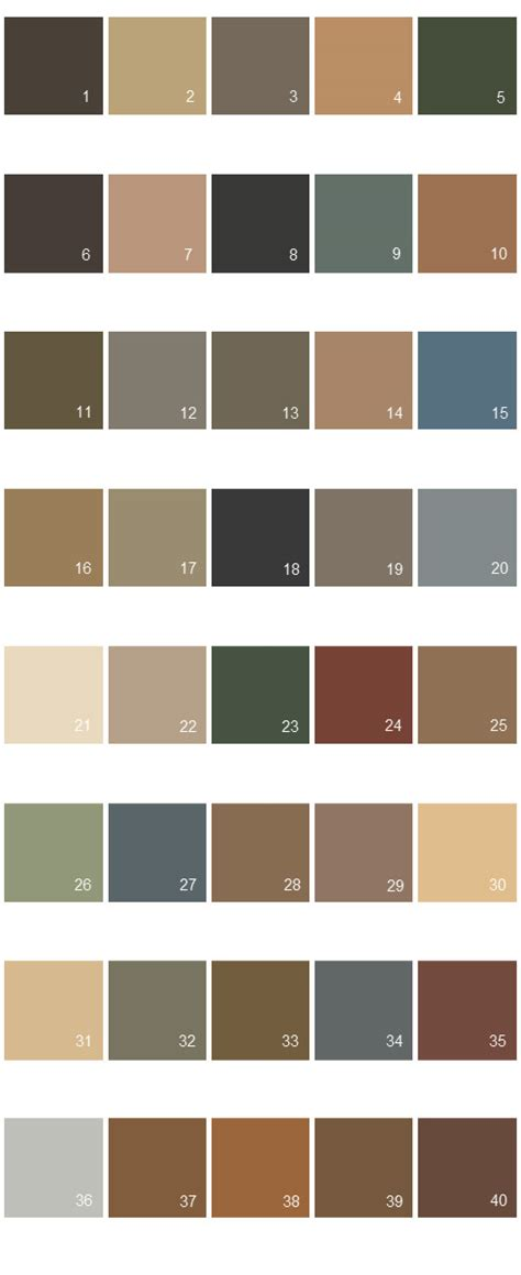 behr paint colors palette 10 house paint colors