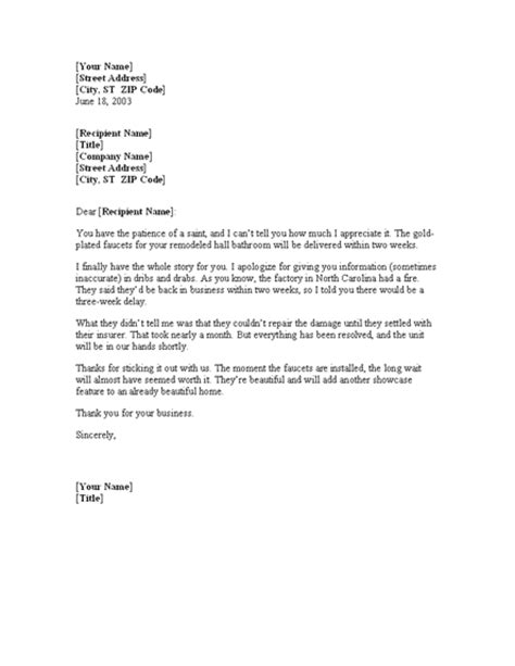 Apology Letter To Customer For Wrong Shipment Letter To Customer Explaining Shipping Delays For Microsoft Sle Access