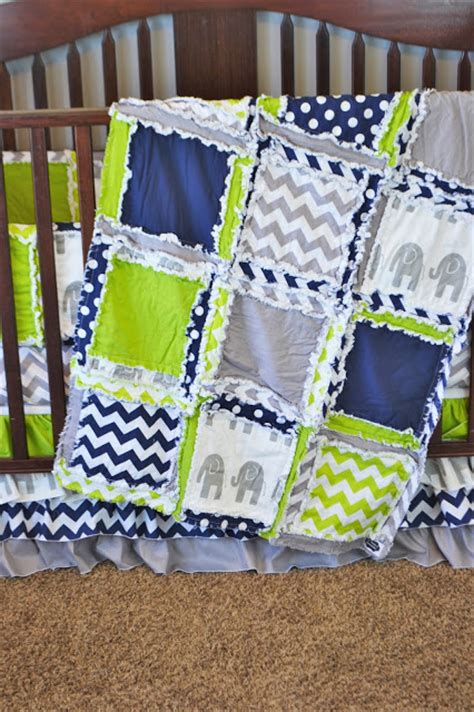 green and grey crib bedding elephant baby bedding lime green navy blue and gray by