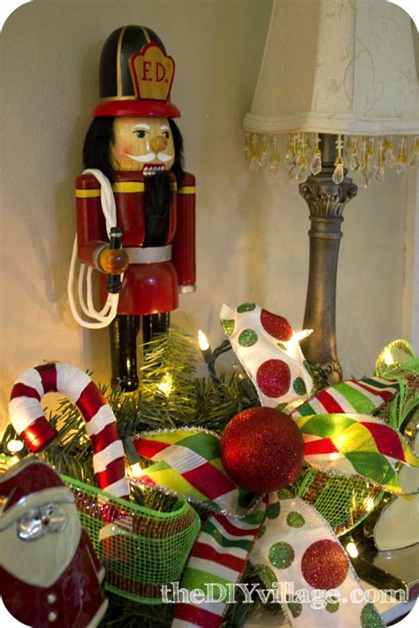 how to decorate a mantle with nutcrackers mantel with santa the diy