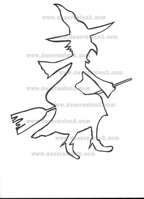 imagenes de brujas de halloween para imprimir plantillas halloween para recortar y colorear o para