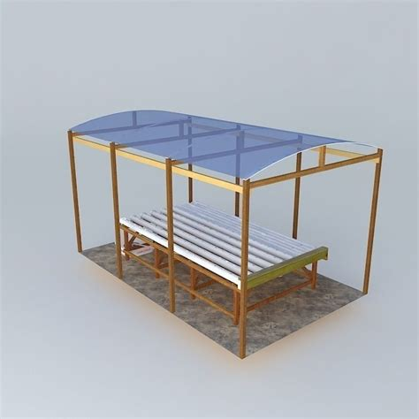 pvc bench hydroponics bench with pvc pipes 3d model max obj 3ds fbx