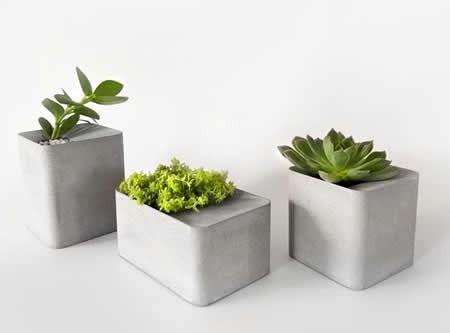 modern geometric concrete succulent planterplant pot