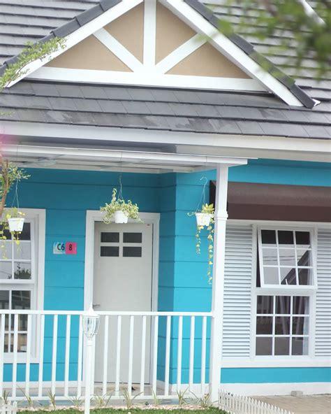 kumpulan foto rumah minimalis bertema biru  putih