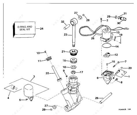Evinrude 1994 115 E115txars Power Trim Tilt Hydraulic