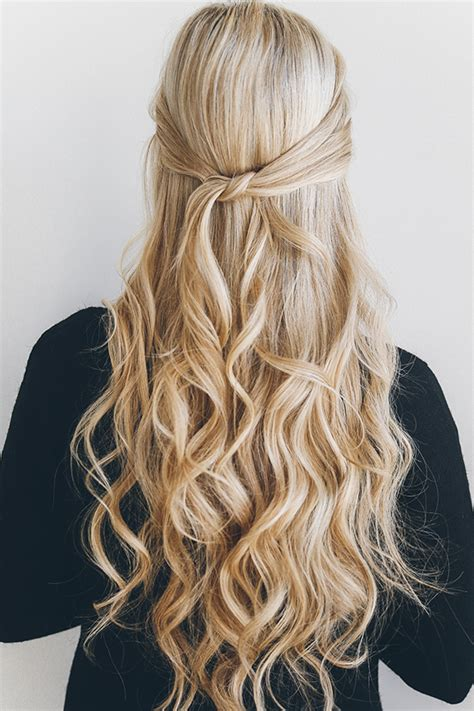 up do how to hairstyles picture 1 by hairstyles magazine hair how to the 1 minute knotted half updo lauren conrad