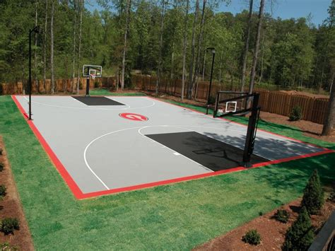 full court basketball court backyard 17 best images about backyard courts on pinterest