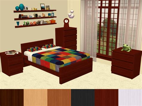 malm bedroom set mod the sims malm bedroom furniture recolours