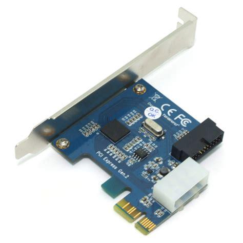 carte pci express 2.0 x1 avec connecteur interne usb 3.0