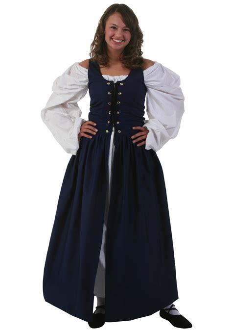 navy renaissance dress
