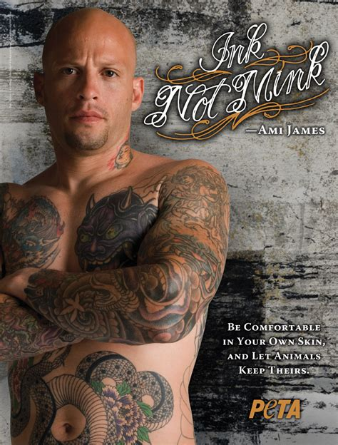 ami james tattoo famous men who got naked for peta top 10 page 8 of 10