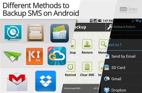 backup sms android 3 best applications to backup sms on android and restore aw center