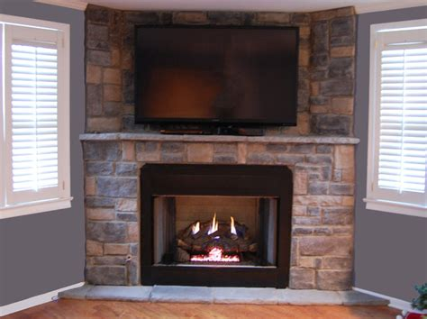 veneer gas fireplace traditional living room