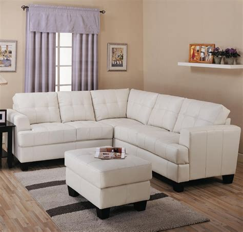 Samuel Contemporary 3 Piece Leather Sectional Sofa By Houzz Sectional Sofas