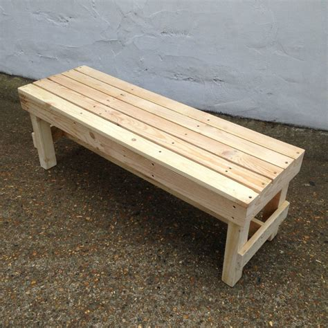 gas bench squared pallet timber garden bench by gas air studios