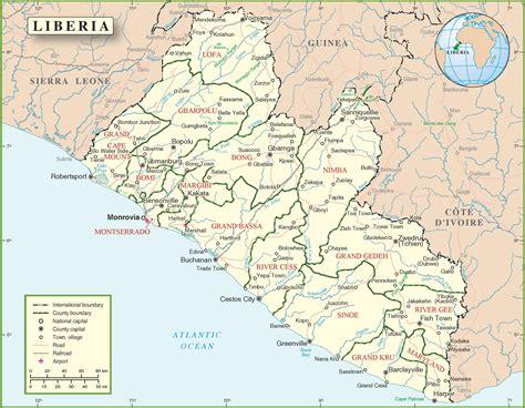 map of liberia liberia political map