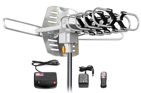 tv antenna digital dtv hdtv wa  amplified long range indoor outdoor rotating ebay