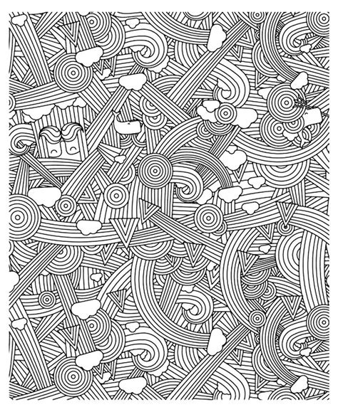 coloring page coloring adult zen anti stress