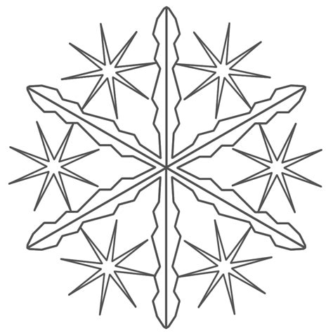free coloring pages of how many snowflakes