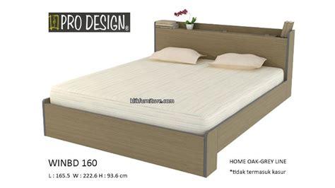 Ranjang Ukuran 160 harga ranjang kayu winbd 160 prodesign sale