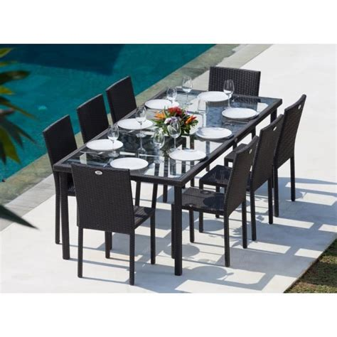 ensemble table et chaise jardin cancun ensemble table de jardin 220 cm et 8 chaises r 233 sine