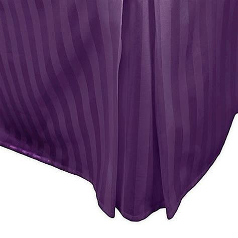 purple bed skirt buy 500 thread count damask stripe queen bed skirt in