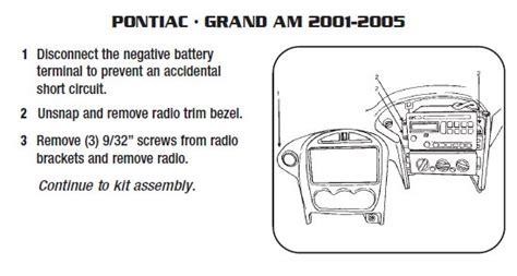 pontiac grand aminstallation instructions