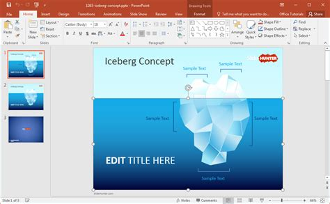the of template tip of the iceberg powerpoint template