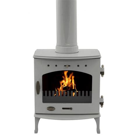 What Is A Solid Fuel Stove by Carron 4 7kw Solid Fuel Stove Ash Grey Enamel