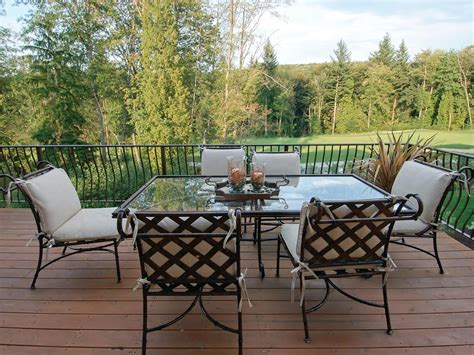 backyard tables cast aluminum patio furniture hgtv