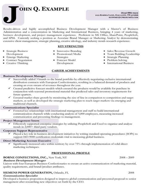 targeted resume template resume sles types of resume