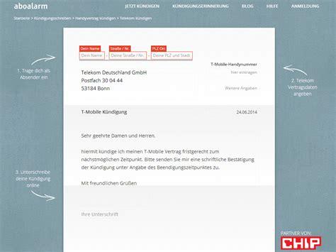 Handyvertrag Kündigen Blau De Vorlage Telekom Handyvertrag K 252 Ndigen Vorlage Chip