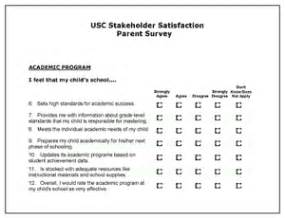 Parent Satisfaction Survey Template by Stakeholder Satisfaction Surveys 171 Center On Educational