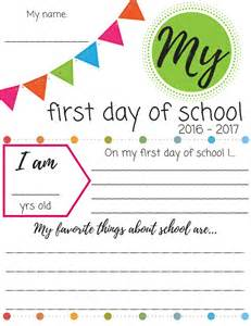 day of school sign template day of school printable signs