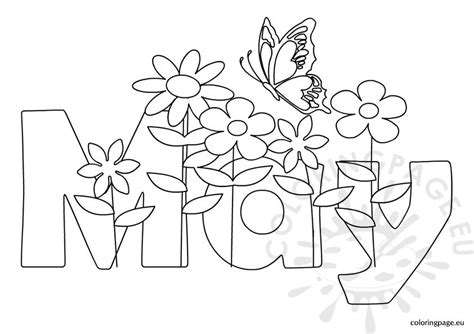 coloring pages may flowers spring coloring page
