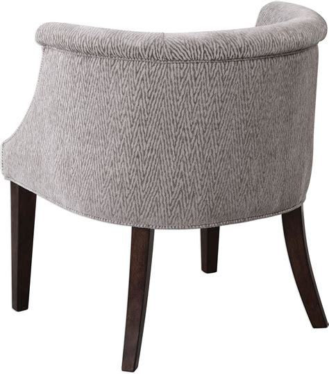 Barrel Accent Chair Arthure Gray Barrel Back Accent Chair 23345 Uttermost