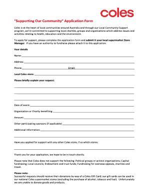 printable job application form coles local application form fill online printable fillable