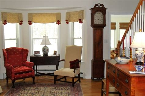 window treatments for bay window in living room window treatment for bay window area traditional living room other by cloth interiors