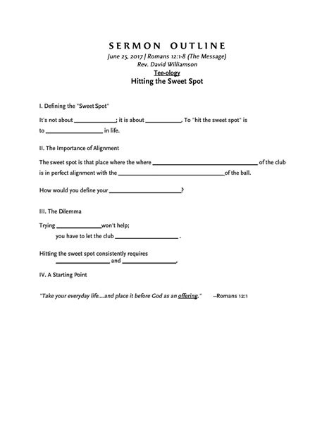 Fashioned Sermon Outlines by Sermon Outline 6 25 17 Dave By St Luke S Umc Issuu