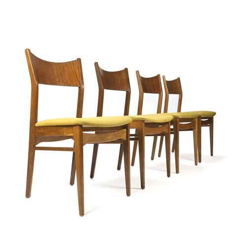 4 eettafel stoelen deense vintage set van 4 teakhouten eettafel stoelen