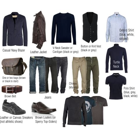 Essential Mens Wardrobe by S Basic Casual Wardrobe Polyvore